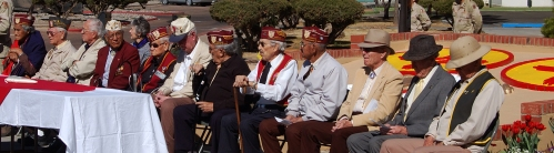 Surviving ex-POWs from the Bataan Death March at their annual reunion in Santa Fe, New Mexico.