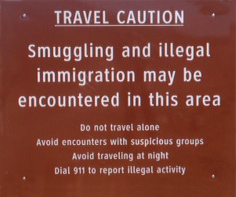 Border Patrol Warning Ubiquitous along the U.S./Mexico Border