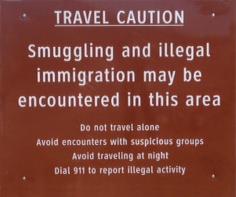 Border Patrol Warning Ubiquitous along the U.S./Mexico Border